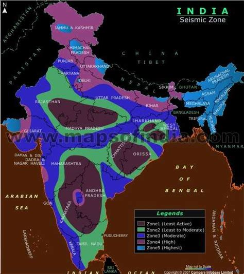 earthquake zone 2 seismic zone map of india