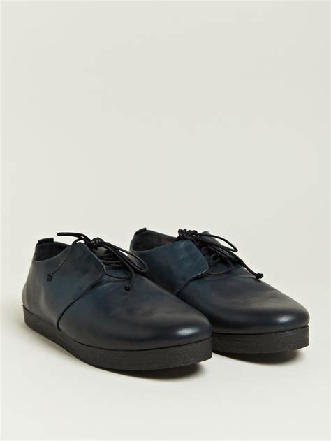 marsell shoes mars 232 ll fiore marcio blocco shoes in blue for lyst