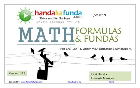 Login Mba Math by Maths Formulas Fundas