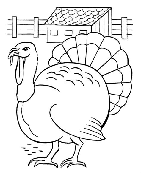 thanksgiving coloring pages easy thanksgiving day coloring page sheets turkey in farmyard