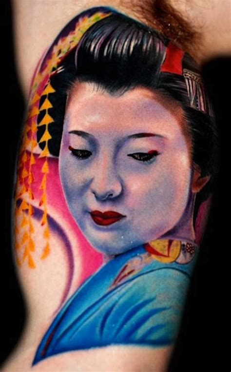 Tattoo Geisha Face | 128 best geisha tattoos