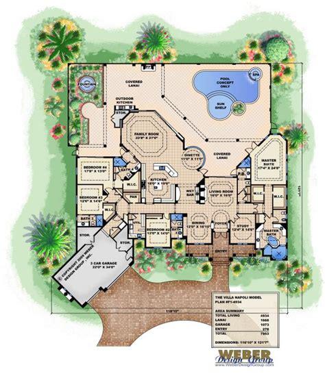 Tuscan Villa House Plans Villa Napoli Floor Plan By Weber Design Group