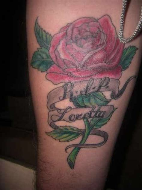 r i p tattoos with roses 90 r i p loretta tattoos are often