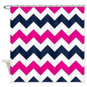 pink and navy curtains chevron shower curtain navy blue pink white zig zag