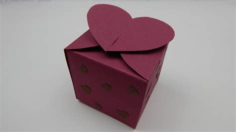 How To Make A Big Gift Box Out Of Paper - how to make a gift box with hearts valentines day diy