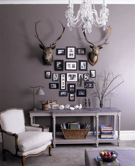 i m loving grey paint on the walls also the mix of rustic and here for the