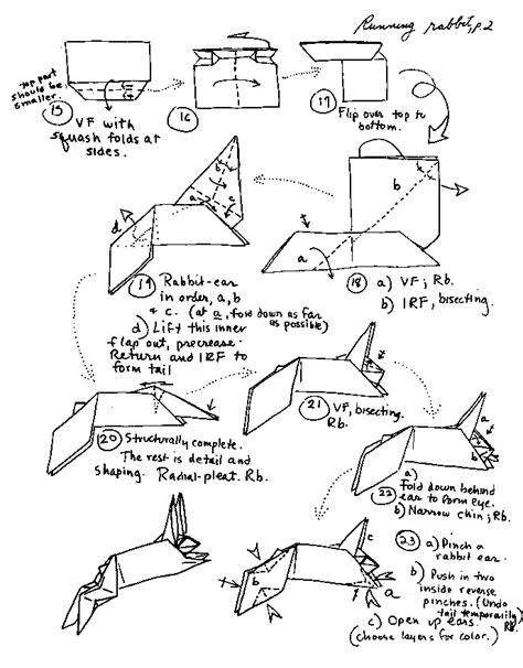 Origami Tiger Diagram - origami advanced zodiac origami