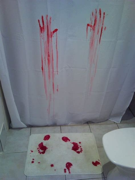 bloody shower curtain and bath mat blood bath shower curtain