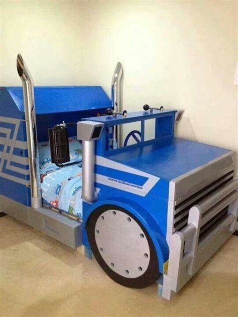 diy boys bed semi truck kids bed kids beds pinterest my boys be