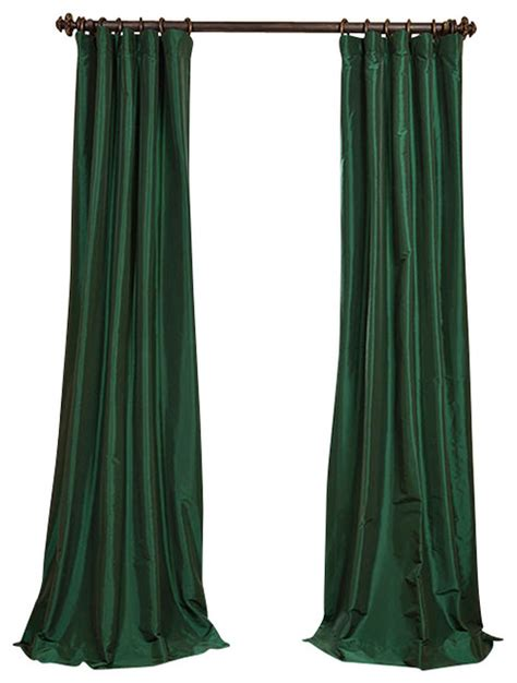 green taffeta curtains emerald green faux silk taffeta curtain 50x84