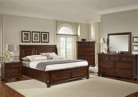 sleigh bed bedroom sets for less overstock com barley cherry storage sleigh king bedroom set louisville