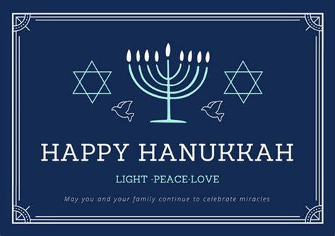 hanukkah photo card template customize 48 hanukkah card templates canva