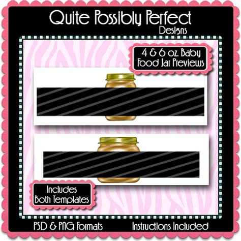 baby food jar label preview template by quitepossiblyperfect