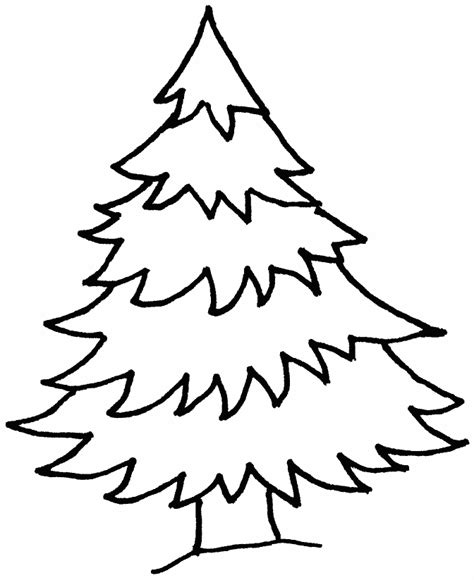 simple christmas tree coloring pages  printable