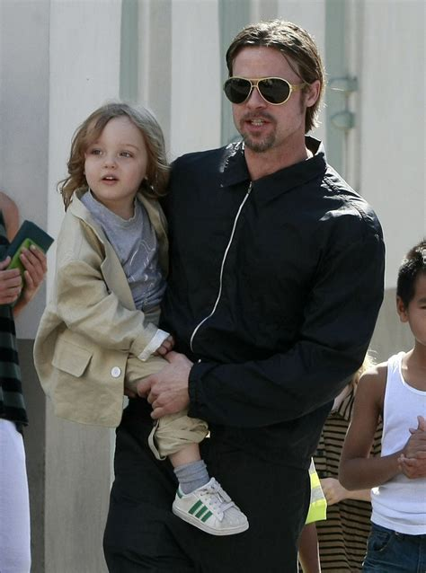 Brad Pitt And Shiloh The Most Beautiful Picture by Brad Pitt And Shiloh Pitt Photos Photos Brad And