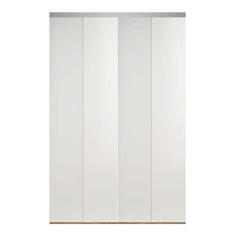 Impact Plus 90 In X 80 In Smooth Flush White Solid Core 90 Inch Closet Doors