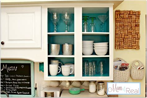 mish mashed mama kitchen cabinet makeover is finally open cabinets with white aqua lime green silver