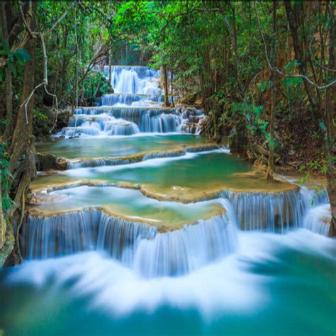 scenic wall murals 3d stereo water landscape waterfall scenic tv background wall mural wallpaper self