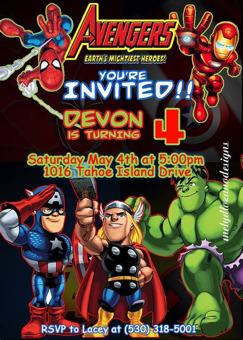Marvel Avengers Birthday Invitations Marvel Invitation Template Free