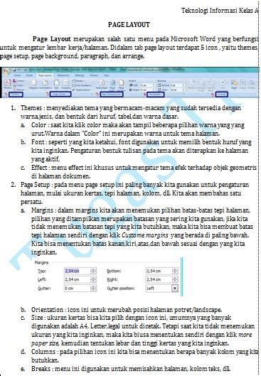 page layout adalah fungsi icon pada menu page layout ms word 2007 riskita