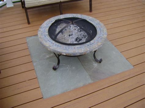 Chiminea Floor Protector Pit For Deck Use Deck Design And Ideas