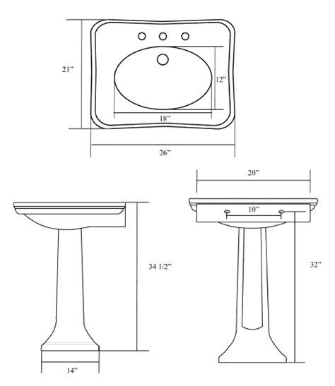 Small Pedestal Sink Dimensions Pedestal Sink Sizes Befon For