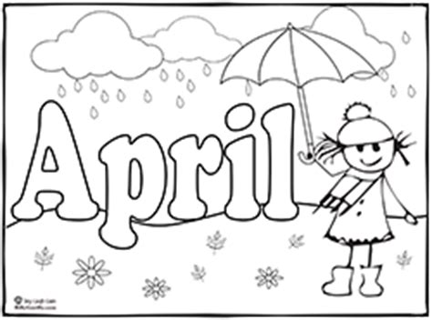 Spring Theme Activities For Teaching Young Children Sing April Coloring Pages