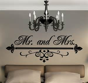 Mr And Mrs Wall Decor by Items Similar To Mr And Mrs Wall Vinyl Black Decal