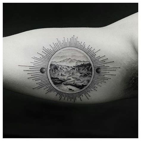 amazing forrest and mountains tattoo venice tattoo art