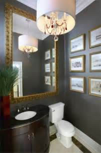 Dark Gray Powder Room Large Mirrors In The Bathroom 5 Inspirations