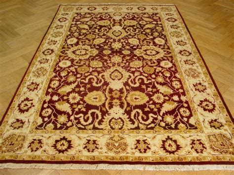 Antique Looking Area Rugs Wine Burgundy Antique Style 6 X 9 Area Handknotted Rug Ebay