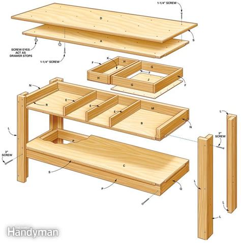 workbench designs for garage build this simple workbench with drawers woodwork city