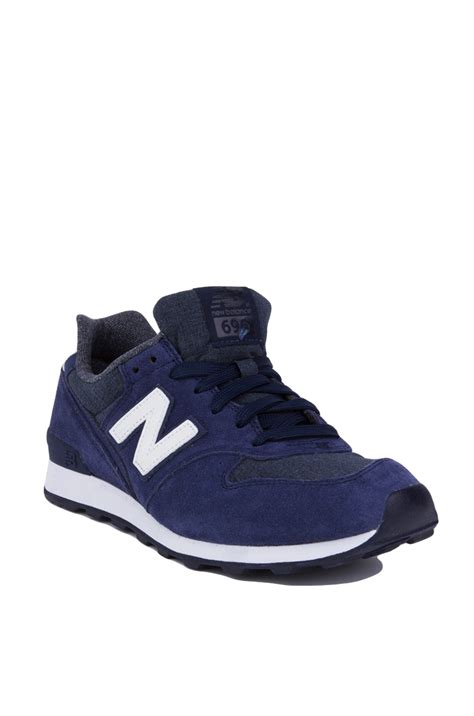 womens navy sneakers lyst new balance 696 shadows sneakers navy in blue