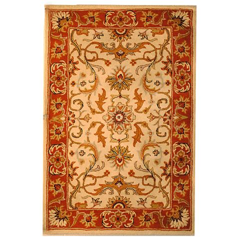 Indo Hand Tufted Wool Rug 5 X 8 Herat Oriental Rugs Indo Rugs