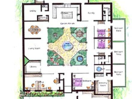 garden home house plans house plans with atrium garden home design and style