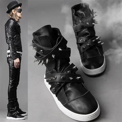 spiked mens boots studded mens shoes on the hunt