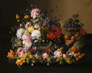 Flowers And Fruits - file severin roesen still life flowers and fruit jpg