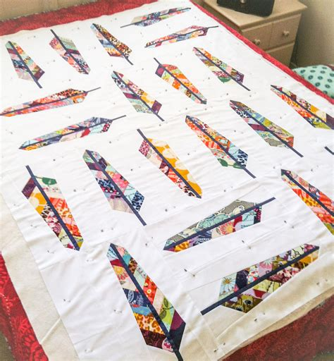 Feather Quilting by Feather Bed Quilt Handcrafted