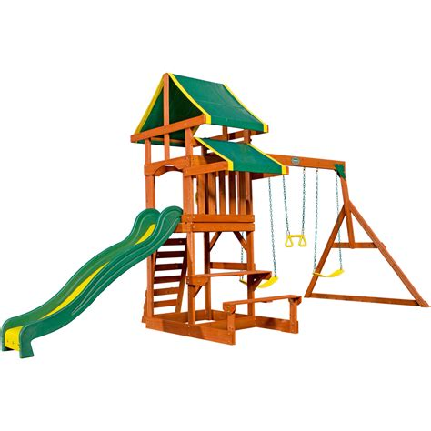 Backyard Discovery Tucson Cedar Wooden Swing Set by Backyard Discovery Tucson Cedar Wooden Swing Set Outdoor