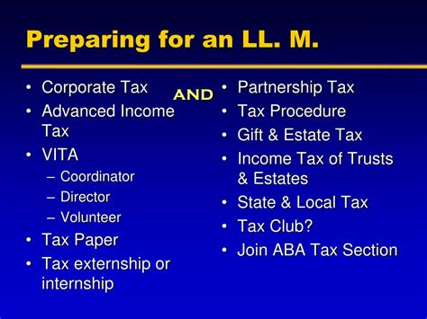aba tax section ppt to ll m tax or not to ll m tax that is the