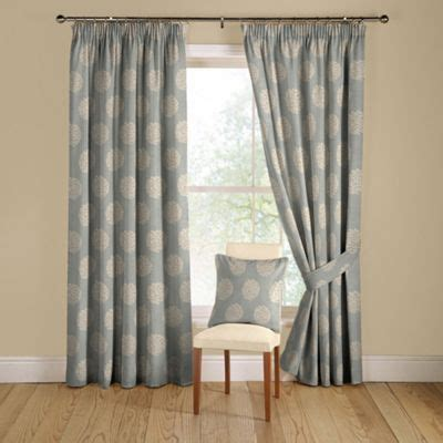 duck egg green curtains duck egg pom pom lined curtains with pencil heading