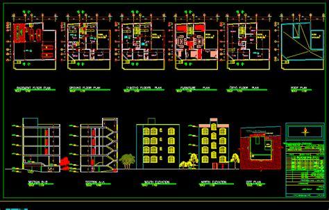 residential building dwg block  autocad designs cad