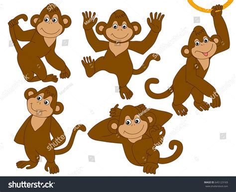 Monkey Set vector monkeys set stock vector