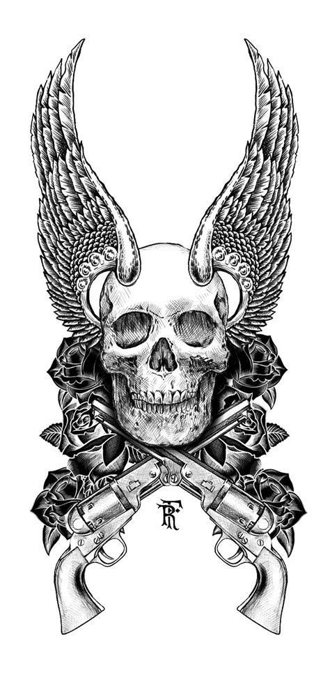 gun cross tattoo 263 best draw a skull images on skulls