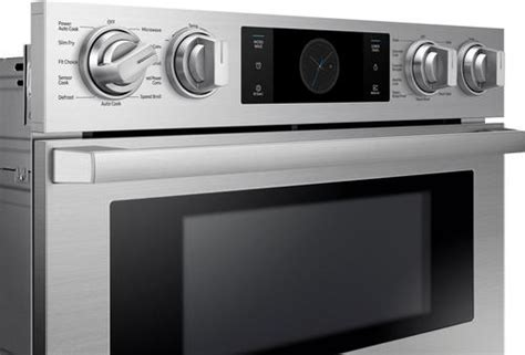 samsung 30 quot chef collection microwave combination oven with flex duo stainless steel at