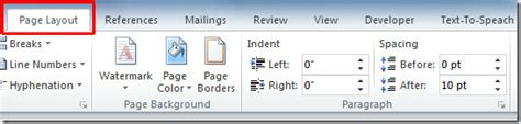 page layout in word 2010 watermark in office word 2010