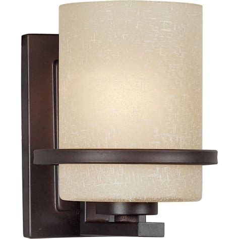 wall lighting filament design 1 light antique bronze sconce with umber