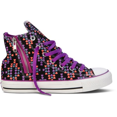 shoes for teenagers converse chuck all side zip hi