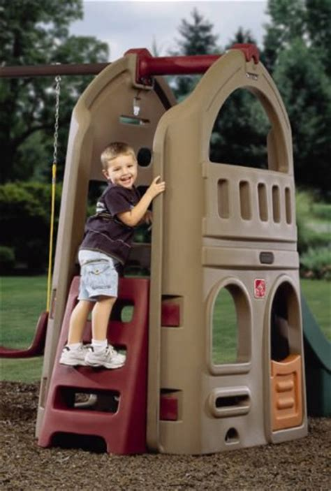 little tikes step 2 swing and slide step2 naturally playful playhouse climber swing