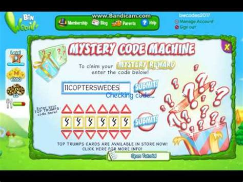 binweevils dosh codes 2017 and binweevil codes 2017 part 2